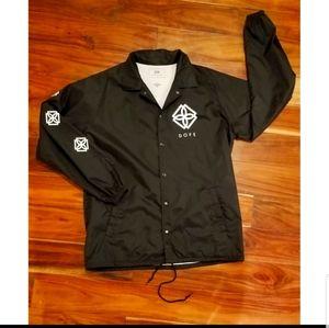 Mens Black DOPE Windbreaker Jacket